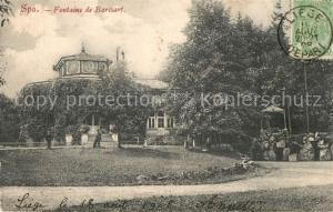AK / Ansichtskarte Spa_Liege Fontaine de Barisart Spa_Liege