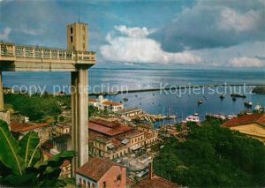 AK / Ansichtskarte Salvador Lacerdo Elevator and low City Salvador