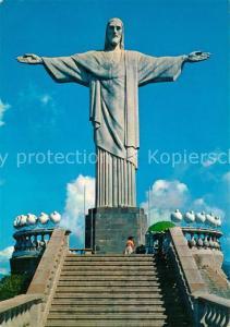 AK / Ansichtskarte Rio_de_Janeiro Statue of Christ on the Corcovado Rock Rio_de_Janeiro