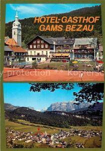 AK / Ansichtskarte Bezau_Vorarlberg Gasthof Gams Kirche Panorama Bezau Vorarlberg