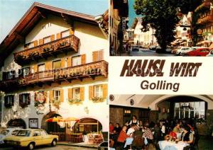 AK / Ansichtskarte Golling_Salzach Hausl Wirt Pension Restaurant Golling Salzach