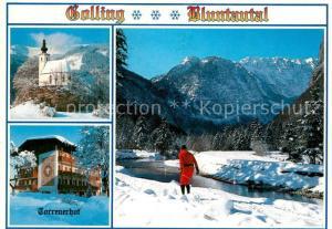 AK / Ansichtskarte Golling_Salzach Bluntautal Kirche Torrenerhof Golling Salzach