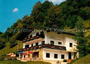 AK / Ansichtskarte Hinterglemm_Saalbach Cafe Hinterklemm Haus Bernhard Hinterglemm_Saalbach