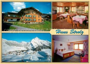 AK / Ansichtskarte Warth_Vorarlberg Haus Strolz Winteraufnahme Warth Vorarlberg