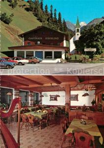 AK / Ansichtskarte Haeusling_Zillertal Alpengasthof Kirche Haeusling_Zillertal