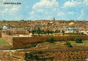 AK / Ansichtskarte Jerusalem_Yerushalayim Seen from Mount of Olives Jerusalem_Yerushalayim
