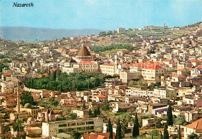 AK / Ansichtskarte Nazareth_Israel Fliegeraufnahme Nazareth Israel 0