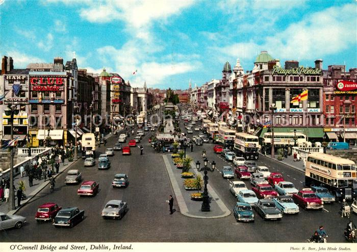 AK / Ansichtskarte Dublin_Ireland O`Connel Bridge and Street Dublin_Ireland 0
