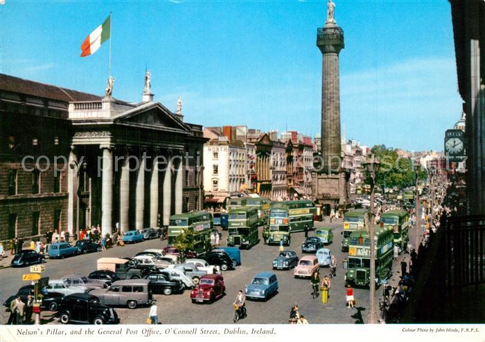 AK / Ansichtskarte Dublin_Ireland Nelsons Pillar Post Office O?  Connell Street Dublin_Ireland 0