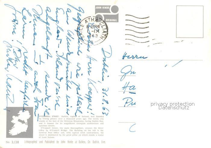 AK / Ansichtskarte Dublin_Ireland Nelsons Pillar Post Office O?  Connell Street Dublin_Ireland 1