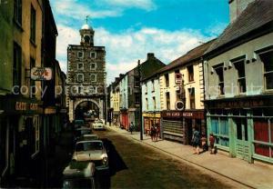 AK / Ansichtskarte Youghal_County Cork Clock Gate Main Street Youghal County Cork