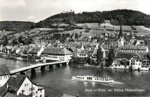 AK / Ansichtskarte Stein_Rhein Br?cke mit Schloss Hohenklingen Stein Rhein