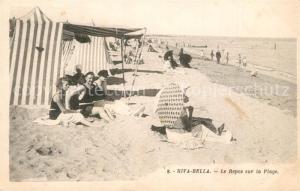 AK / Ansichtskarte Riva Bella Le Repos sur la Plage Riva Bella