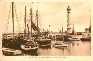 AK / Ansichtskarte Ouistreham Riva Bella Le Port et le Phare Ouistreham