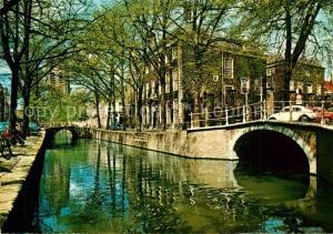 AK / Ansichtskarte Delft Oude Delft met Meisjehuis Delft