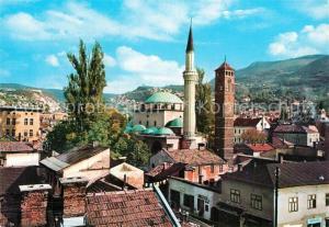 AK / Ansichtskarte Sarajevo Beg Moschee mit Uhrturm Sarajevo