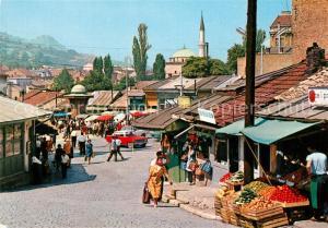 AK / Ansichtskarte Sarajevo Markt Sarajevo