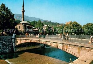 AK / Ansichtskarte Sarajevo Kaisermoschee Bruecke Sarajevo