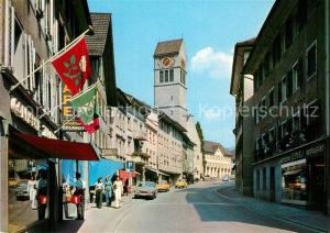 AK / Ansichtskarte Uznach Strassenpartie Uznach