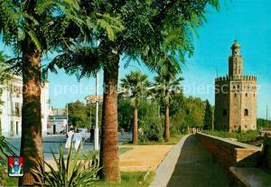 AK / Ansichtskarte Sevilla_Andalucia Torre del Oro Sevilla_Andalucia