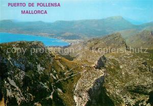 AK / Ansichtskarte Puerto_de_Pollensa Fliegeraufnahme Puerto_de_Pollensa