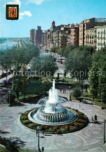 AK / Ansichtskarte Lleida Brunnen Place de la Paz Lleida