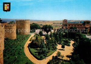 AK / Ansichtskarte Avila_Espana Basilica y Jardines de San Vicente