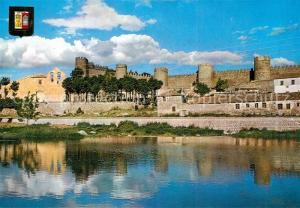 AK / Ansichtskarte Avila_Espana Rio Adaja y Murallas