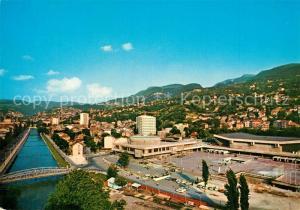 AK / Ansichtskarte Sarajevo Fliegeraufnahme Skenderija Sarajevo