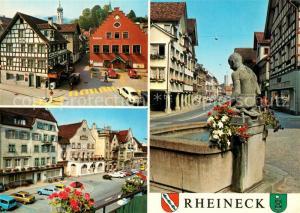 AK / Ansichtskarte Rheineck_SG Fachwerk Brunnen Rheineck SG