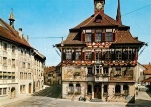 AK / Ansichtskarte Stein_Rhein Rathaus und Adler Stein Rhein