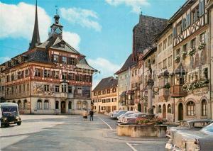 AK / Ansichtskarte Stein_Rhein Rathaus Stein Rhein