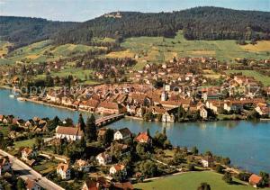 AK / Ansichtskarte Stein_Rhein Fliegeraufnahme mit Schloss Hohenklingen  Stein Rhein