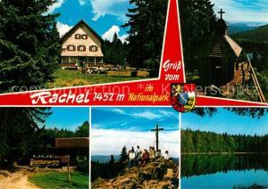 AK / Ansichtskarte Rachel Gasthaus Kapelle Gipfelkreuz Seepartie