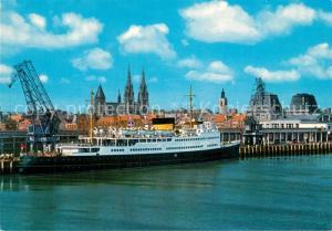 AK / Ansichtskarte Ostende_Oostende met Maalboot Koningin Fabiola