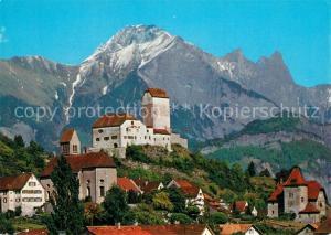 AK / Ansichtskarte Sargans Schloss mit Falknis Sargans