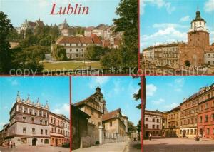 AK / Ansichtskarte Lublin_Lubelskie Stadtpanorama Partien in der Innenstadt Altstadt Lublin Lubelskie