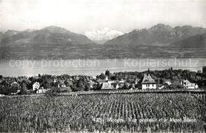 AK / Ansichtskarte Morges Mont Blanc Morges