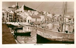 AK / Ansichtskarte Ibiza_Islas_Baleares Hafenpartie Ibiza_Islas_Baleares