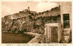 AK / Ansichtskarte Ibiza_Islas_Baleares La Catedral y Santo Domingo desde La Pena Ibiza_Islas_Baleares