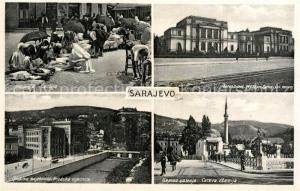 AK / Ansichtskarte Sarajevo Carsija Zemaljski muzej Gradska vijecnica Careva dzamija Sarajevo