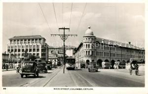 AK / Ansichtskarte Colombo_Ceylon_Sri_Lanka Main Street Colombo_Ceylon_Sri_Lanka