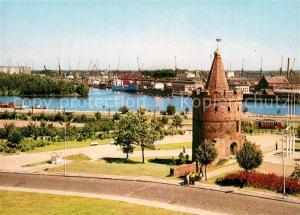 AK / Ansichtskarte Szczecin_Stettin Gotischer Turm Oder Hafen Szczecin_Stettin