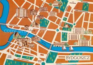 AK / Ansichtskarte Bydgoszcz_Pommern Stadtplan  Bydgoszcz Pommern