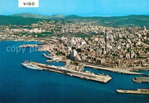 AK / Ansichtskarte Vigo_Galicia_Espana Fliegeraufnahme