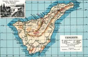 AK / Ansichtskarte Tenerife Inselkarte Hotel Martianez Tenerife