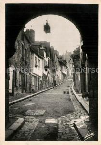 AK / Ansichtskarte Dinan Porte et Rue du Jerzual Dinan