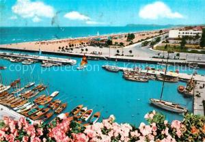 AK / Ansichtskarte Riccione Binnenhafen und Promenade Riccione