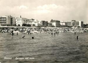 AK / Ansichtskarte Riccione Spiaggia dal mare Riccione