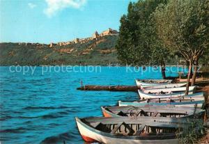 AK / Ansichtskarte Castel_Gandolfo_Latium Panorama e Lago Olimpico Castel_Gandolfo_Latium